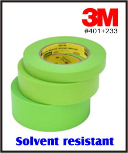3M 401+ Solvent Resistant Masking Tape - x 60yd