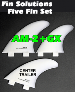 Fin Solutions AM-2 + GX w/FCS Twin Tab Base - Five Fin Set