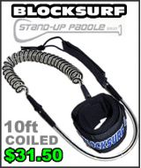 Block Surf Coiled SUP Leash - 10ft