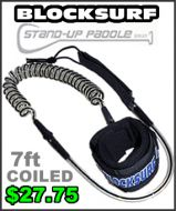 Block Surf Coiled SUP Leash - 7ft