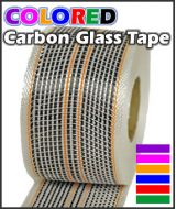 Carbon Glass Tape 5.3 oz. with Colored Thread