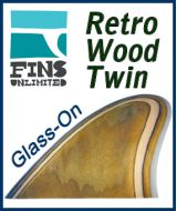 zGlass On - Fins Unlimited Retro Wood Twin (Marine Plywood)