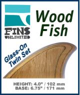 zGlass On - Fins Unlimited - WOOD FISH