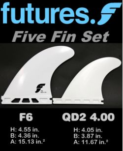 Futures F6 Five Fin Set