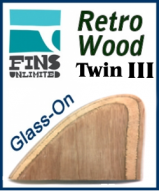 zGlass On - Fins Unlimited Retro Wood Twin 3