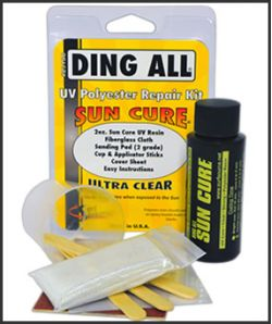 Sun Cure Polyester Fiberglass Repair Kit