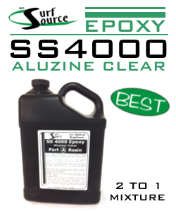 SS4000 Aluzine Set, Clear Epoxy Resin and Hardener