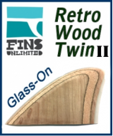 Glass On - Fins Unlimited Retro Wood Twin Fin 2